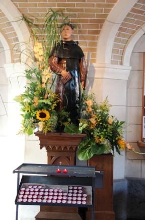 Saint Fiacre dans l'église de La Reid