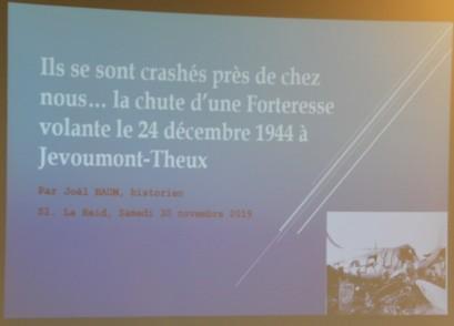 2019-11-30 - Conférence de Joël Baum - La Reid